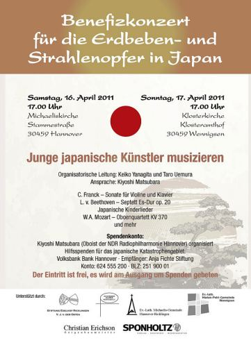 Benefizkonzert f�r Japan