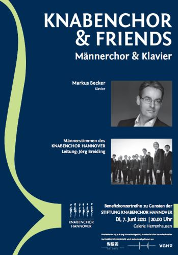 Knabenchor & Friends: Männerchor & Klavier solo