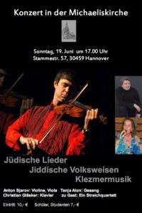 J�dische Lieder Jiddische Volksweisen Klezmer-Musik