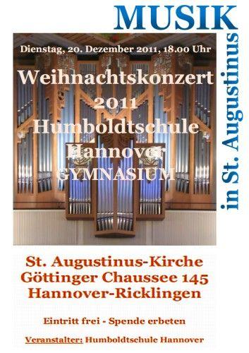 Weihnachtskonzert der Humboldtschule Hannover