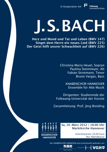 Chorkonzert mit Werken von J. S. Bach
