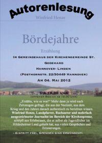 Autorenlesung mit Winfried Henze in Linden