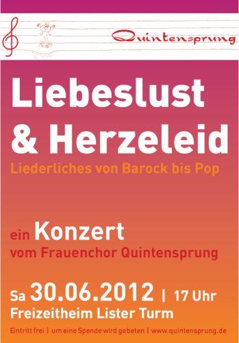 Frauenchor Quintensprung: Liebeslust & Herzeleid