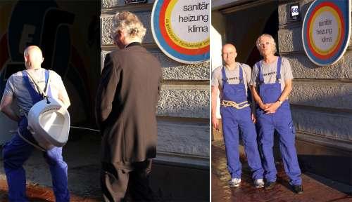 Die Kunst-Installateure Hermann Sievers und Klaus-Dieter Gleitze (v.l.)