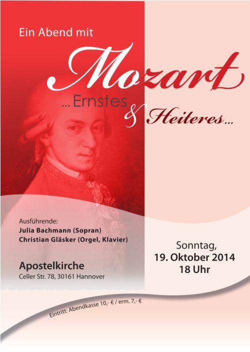 Apostelkirche: Ein Abend mit Mozart
