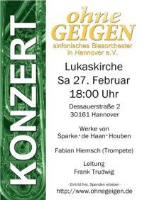 Frühjahrskonzert von ohneGeigen - sinfonisches Blasorchester in Hannover e.V