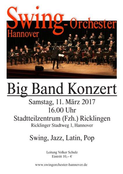 Samstag, 11. März 2017, 16.00 Uhr, Stadtteilzentrum Ricklingen