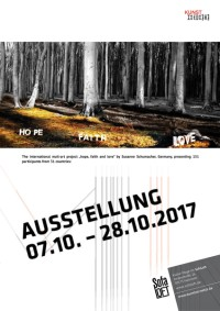 Mail Art Ausstellung hope, faith and love von Susanne Schumacher