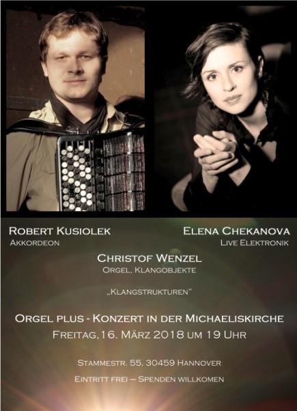 Orgel plus-Konzert in der Michaeliskirche: Klangstrukturen