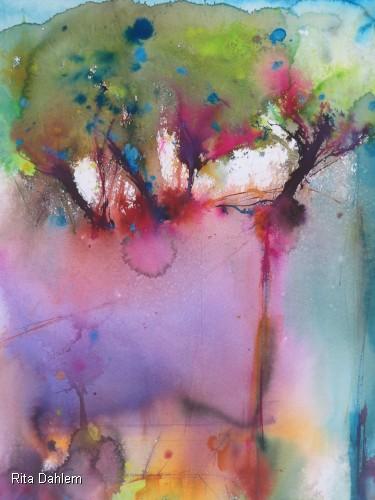 Rita Dahlem: Wald (56 x 76 cm, Aquarell von 2013)