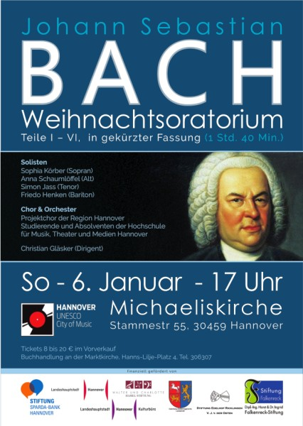 Weihnachtsoratorium von Johann Sebastian Bach am 6. Januar 2019